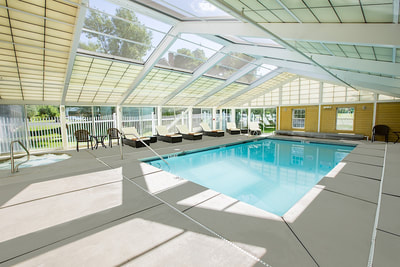 Our indoor pool and solarium
